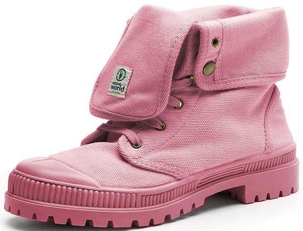 Bota Alta Suela Al Tono - Schuhe aus Bio-Baumwolle - rosa - Bild 1