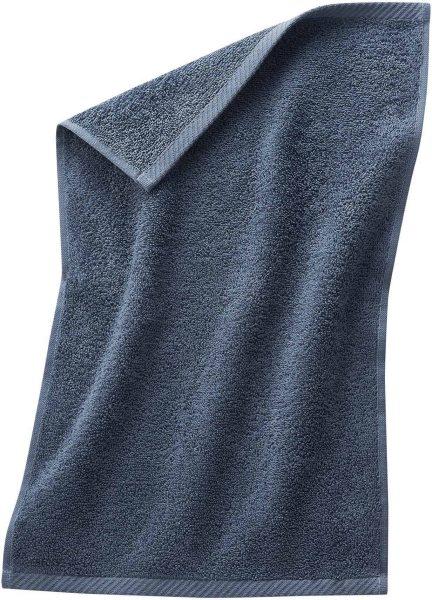 Gäste-Handtuch aus Bio-Baumwolle 30x50 cm infinity blue - Bild 1