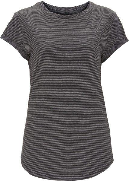 Organic Rolled Sleeve T-Shirt - weiss/schwarz