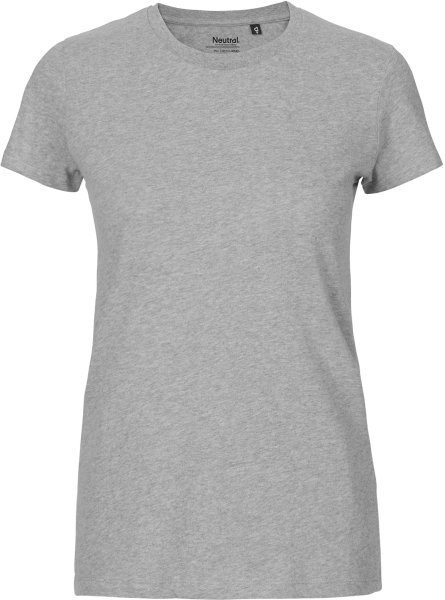 Fitted T-Shirt aus Fairtrade Bio-Baumwolle - grau meliert