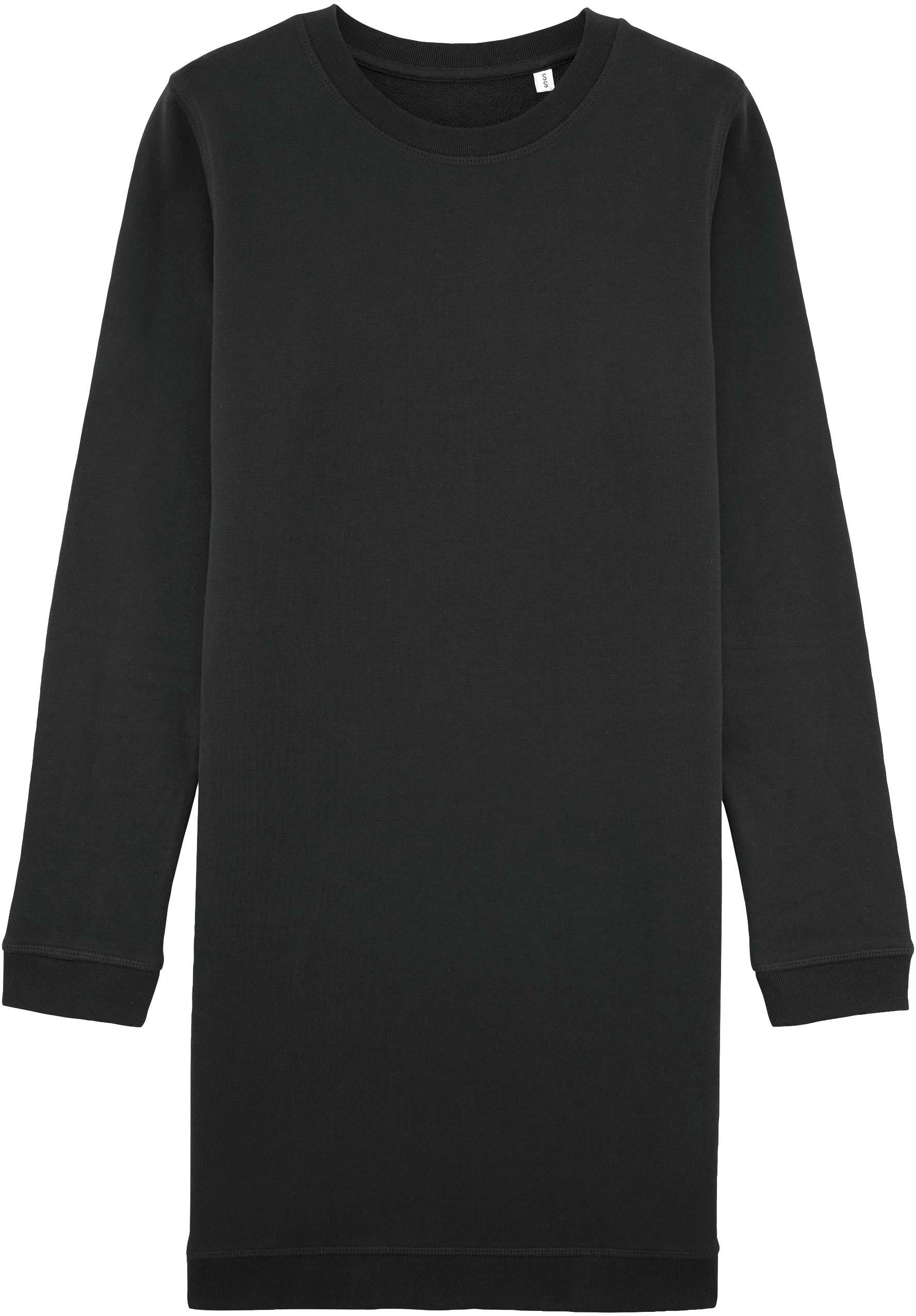 2ac903ee3432ea Faires Sweatshirt-Kleid aus Bio-Baumwolle schwarz | grundstoff.net