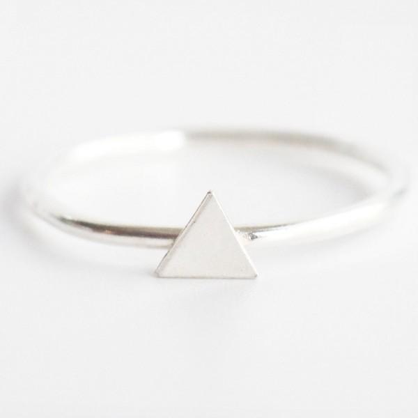 Triangle Ring Dreieck Silber recycelt Wild Fawn