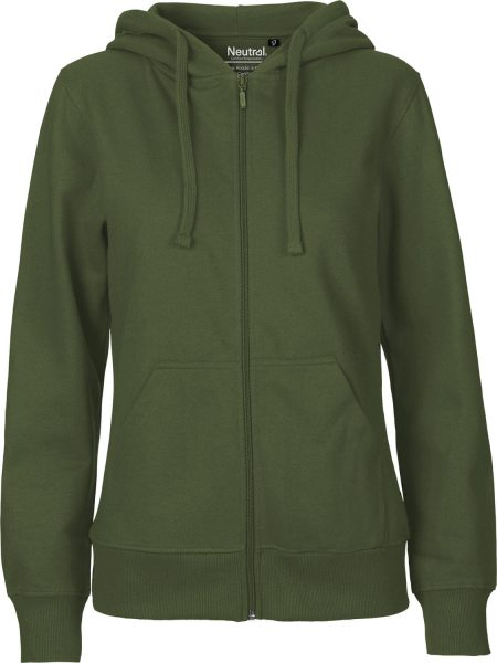Zip-Up Hoodie aus Fairtrade Bio-Baumwolle - military