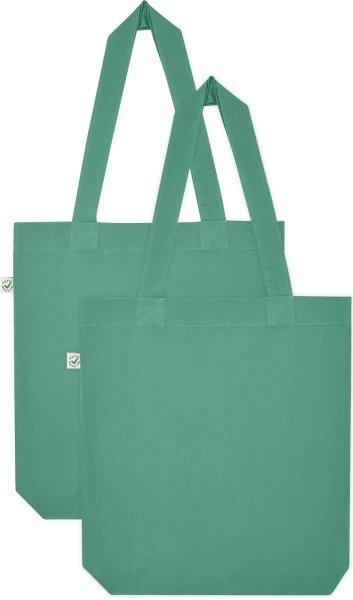 Doppelpack - Organic Cotton Bag - sage green