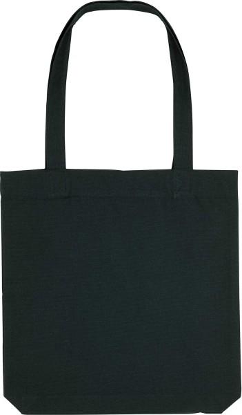 Tragetasche aus recycelter Baumwolle - schwarz