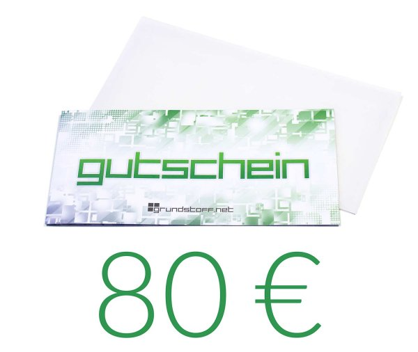 80,- EUR Geschenkgutschein - neutrales Design