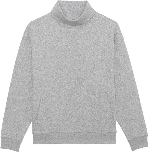 Unisex Rollkragen-Sweatshirt aus Bio-Baumwolle - heather grey