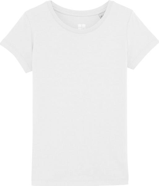 Mädchen T-Shirt Bio-Baumwolle - white