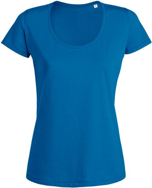 Desires - Rundhals T-Shirt aus Bio-Baumwolle - blau