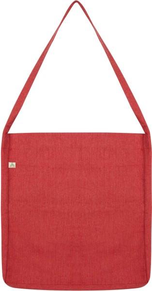 Recycled Sling Bag aus Baumwolle & Polyester - melange red - Bild 1
