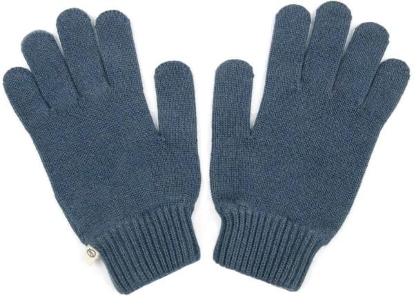 Strickhandschuhe aus Bio-Baumwolle - navy