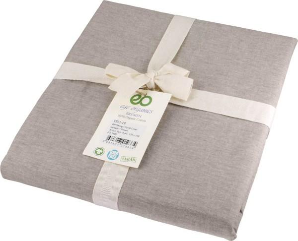 Bettdeckenbezug aus Bio-Baumwolle 135x200 cm - brown melange