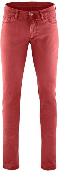 5-Pocket-Hose aus Bio-Baumwolle - rosso