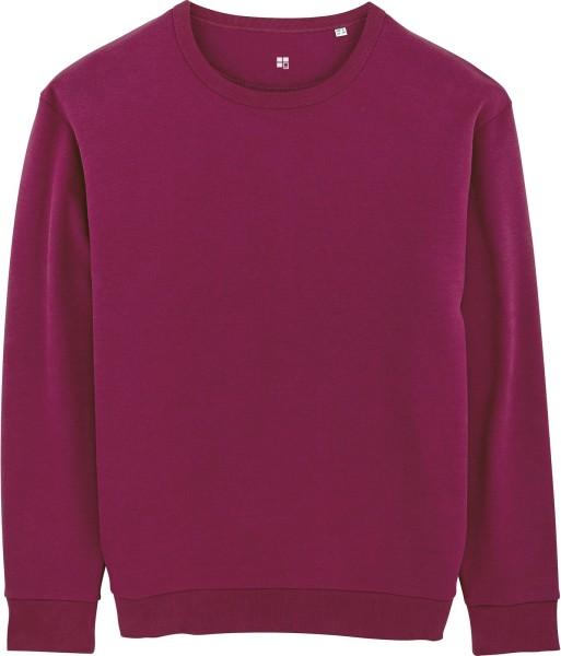 Sweatshirt aus Bio-Baumwolle - purple LED