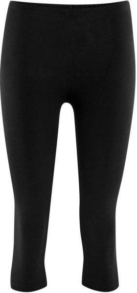 3/4 Leggings aus Bio-Baumwolle – black