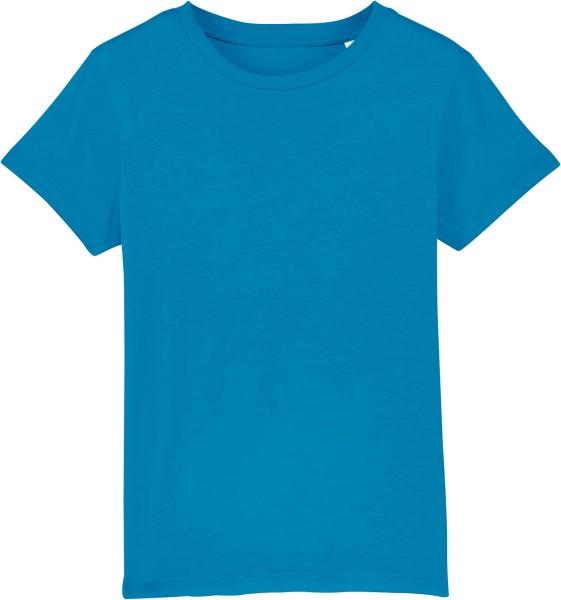 Kinder T-Shirt aus Bio-Baumwolle - azur