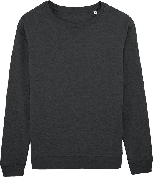 Sweatshirt aus Bio-Baumwolle - dunkelgrau meliert