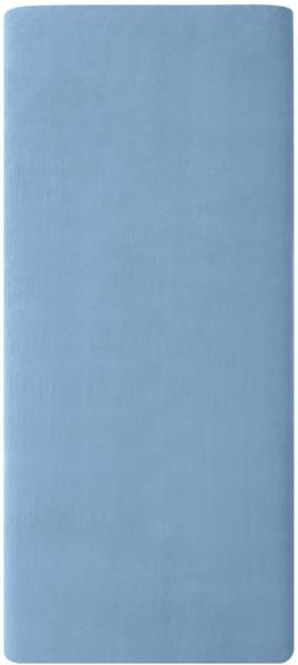 Satin-Spannbetttuch aus Bio-Baumwolle 100x200cm - blue shadow