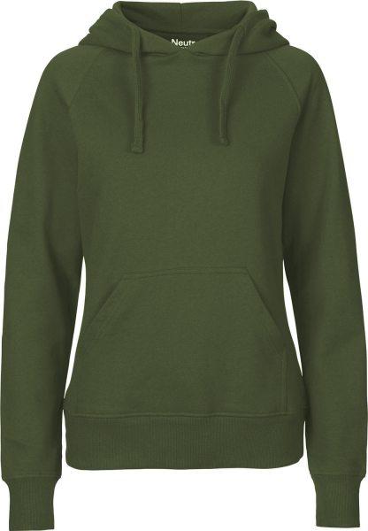 Hooded Sweatshirt aus Fairtrade Bio-Baumwolle - military