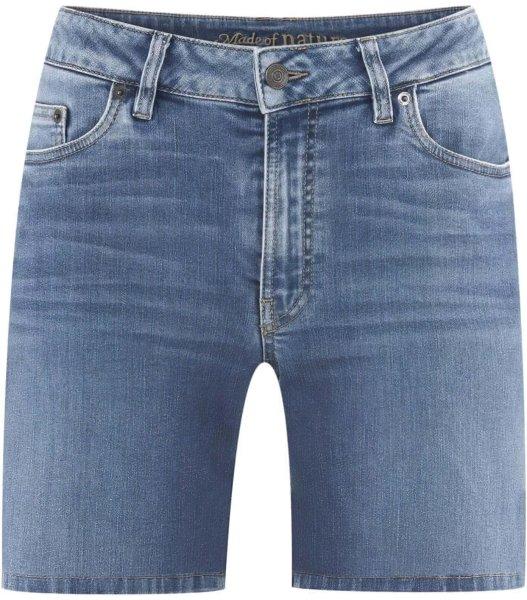 Jeans-Bermudas aus Bio-Baumwolle - mid indigo
