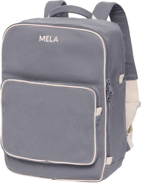 Fairtrade Rucksack MELA II aus Bio-Baumwolle - grau