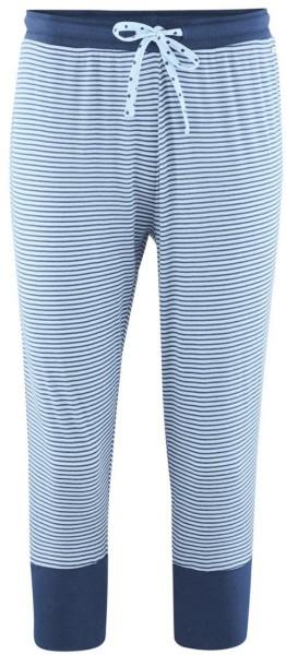 3/4 Ringel Schlaf-Hose aus Bio-Baumwolle – bleu/stripes