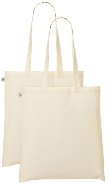 Doppelpack - Organic Cotton Bag - natur