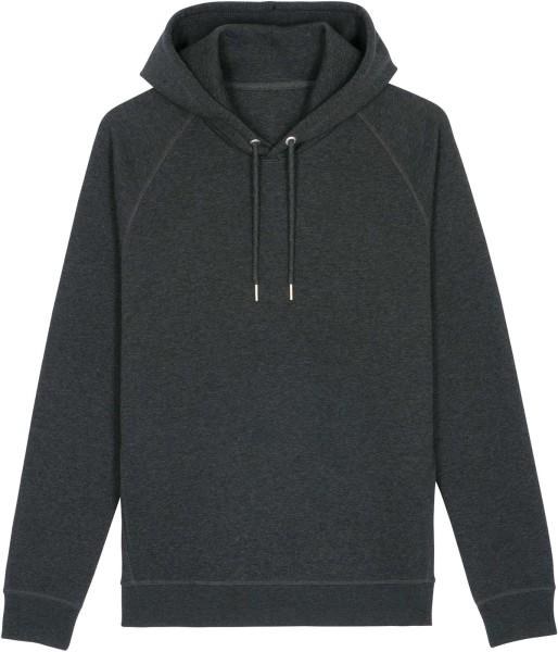 Unisex Raglan-Hoodie aus Bio-Baumwolle - dark heather grey