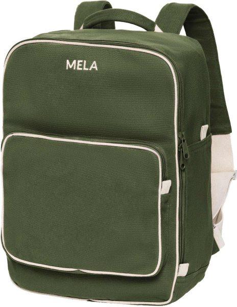 Fairtrade Rucksack MELA II aus Bio-Baumwolle - olivgrün