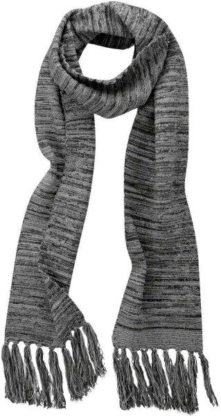 Fransenschal aus Bio-Baumwolle und Hanf - graphit-grey - Bild 1