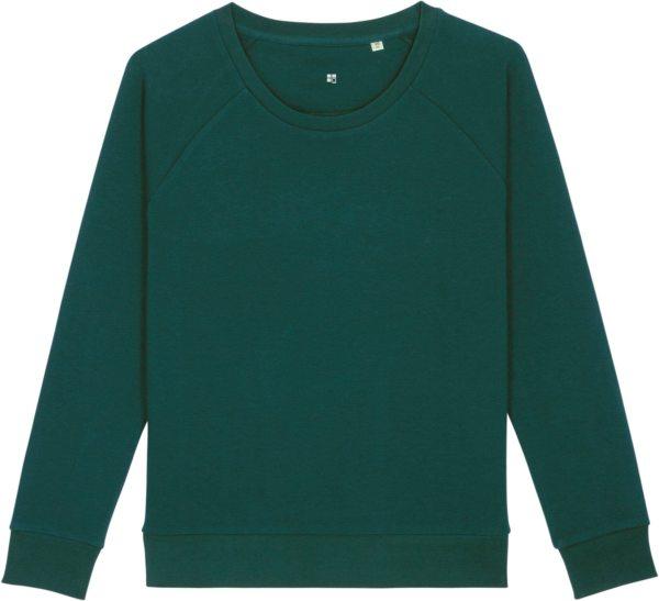 Sweatshirt aus Bio-Baumwolle - glazed green