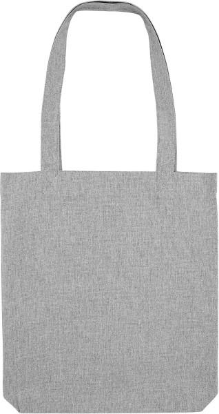 Tragetasche aus recycelter Baumwolle - grau meliert - Bild 1