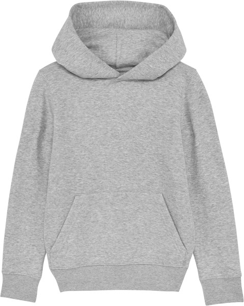 Kinder Hoodie aus Bio-Baumwolle - heather grey