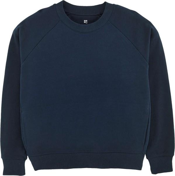 Kurzes Raglan-Sweatshirt aus Bio-Baumwolle - french navy
