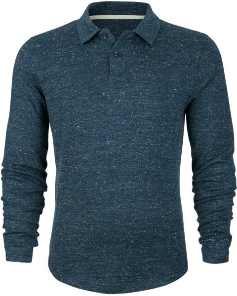 Warms - Poloshirt Bio-Baumwolle/Wolle - heather denim - Bild 1