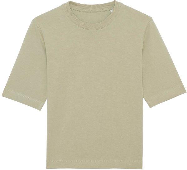 Boxy T-Shirt aus schwerem Stoff aus Bio-Baumwolle - sage