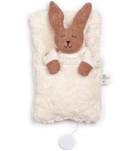 Hasen-Spieluhr mit Schlafsack - Bio-Baumwolle - Bild 1