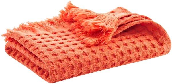 Waffelpiqué-Badetuch aus Bio-Baumwolle 140x70 cm - terracotta
