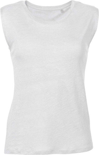 Sparkles Linen - T-Shirt aus Leinen - weiss