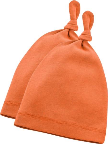 Baby Mützchen aus Bio-Baumwolle - pumpkin