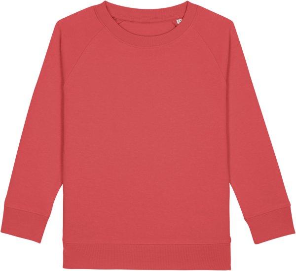 Kinder Sweatshirt aus Bio-Baumwolle - carmine red