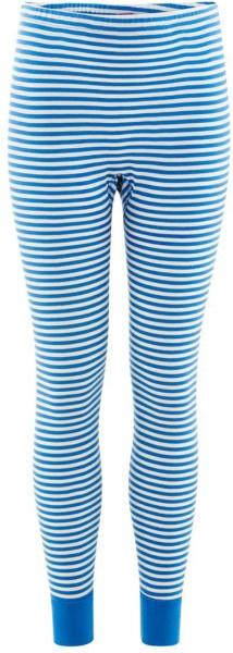Kinder Lange Unterhose Bio-Baumwolle - blue/natural striped