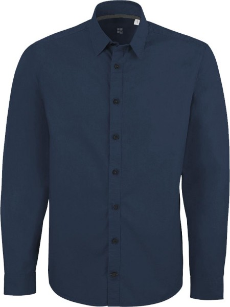 Impresses - Herrenhemd aus Biobaumwolle - mid navy