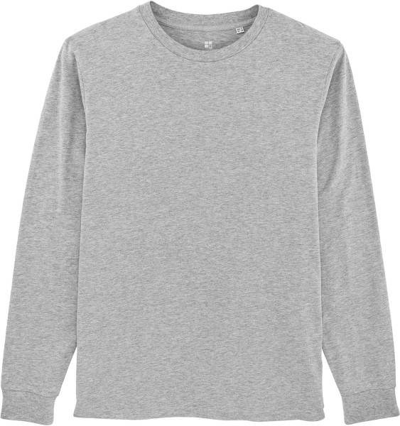 Langarmshirt aus Bio-Baumwolle - heather grey