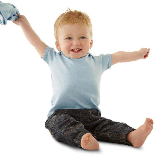 Baby T-Shirt aus Bio-Baumwolle - soft blue - Bild 1