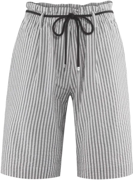 Bermuda-Shorts aus Bio-Baumwolle - white/black
