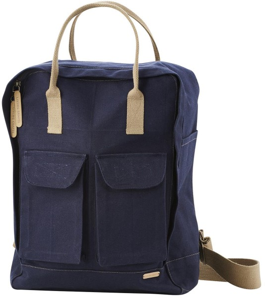 Rucksack aus Bio-Baumwolle – navy
