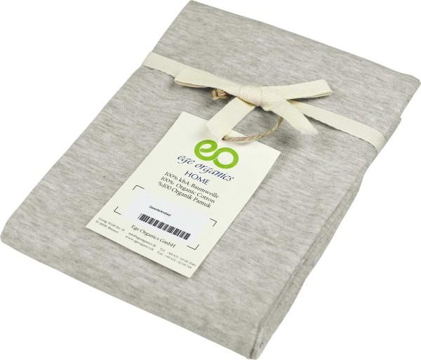 Kissenbezug aus Bio-Baumwolle - beige-meliert