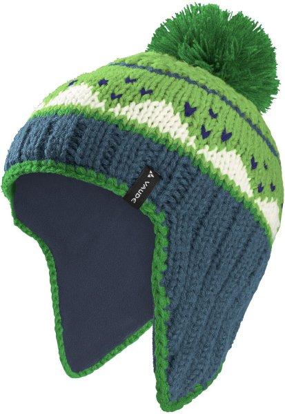 Kinder Mütze Knitted Cap IV - steelblue