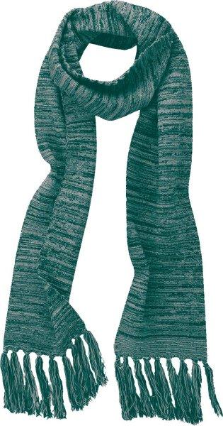 Fransenschal aus Bio-Baumwolle und Hanf - spruce grey